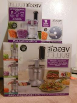 Veggie Bullet Food Processor - Electric Spiralizer, Shredder