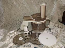 Vintage SEARS 7 Speed Counter Craft Kenmore FOOD PROCESSOR M