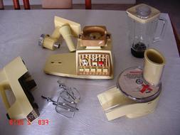 Vintage Oster Food Crafter food processor - Harvest Gold