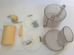 Vintage Cuisinart Little Pro Plus Food Processor Attachments