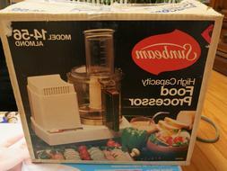 Vintage Sunbeam Model 14-56 Almond High Capacity Food Proces